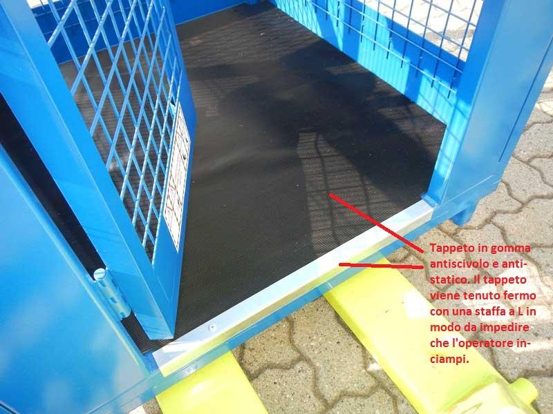 Cestello portapersone per manutenzione aerea ramoter - Muletti grandi portate ...